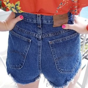 Vintage Lee high rise cut off shorts